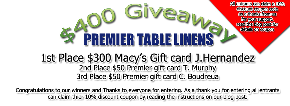 Announcing our winners $400 Giveaway