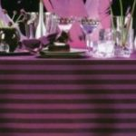 Poly Stripe Tablecloths, Fitted tablecloths, Table Skirts, Runners & Napkins