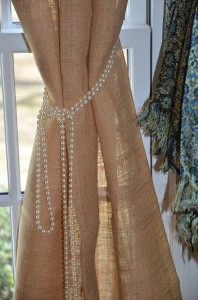 Closeup with pearls