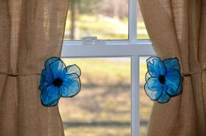 Organza Flower Tie-Back