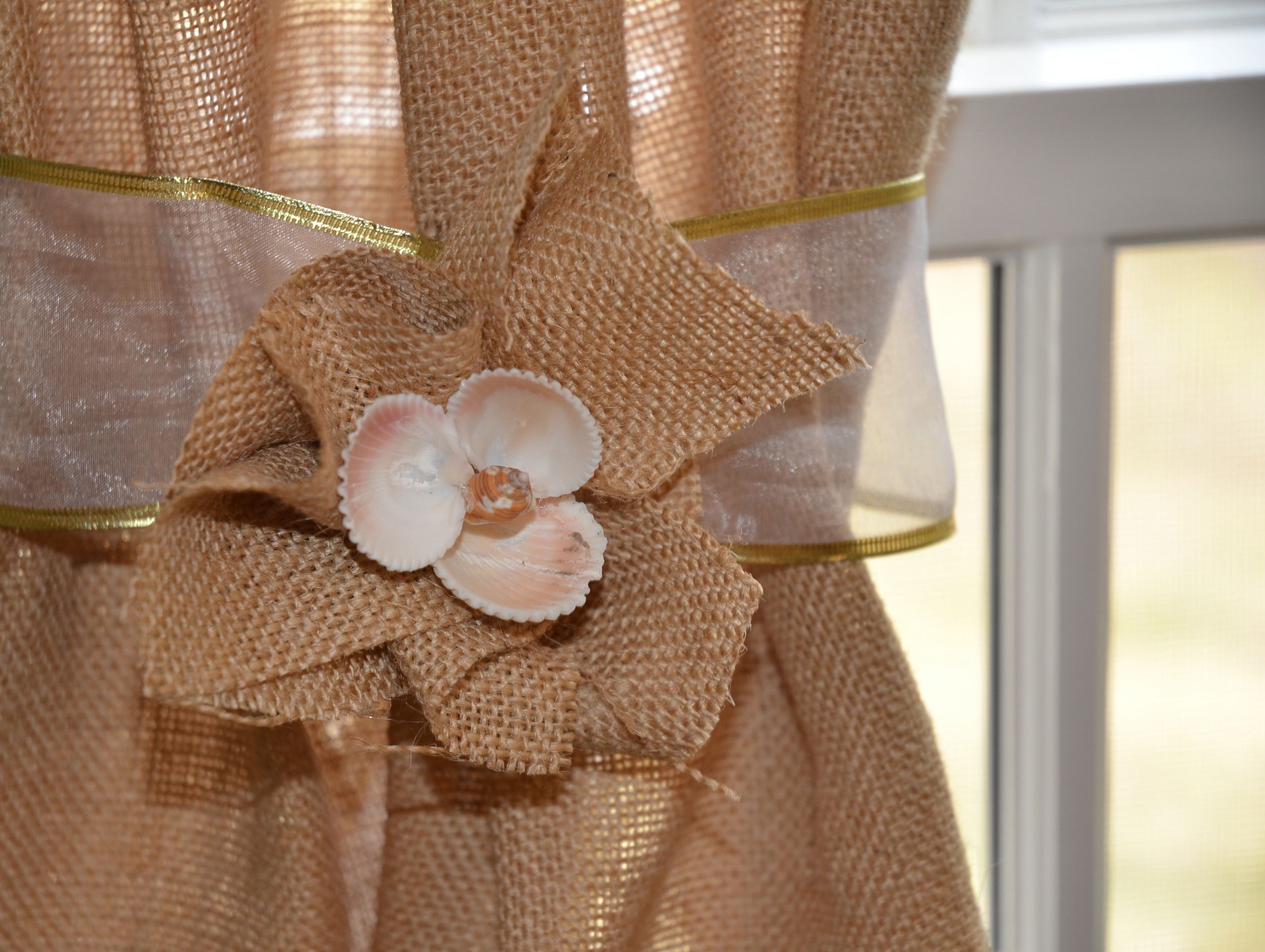 Be creative with Burlap Curtains