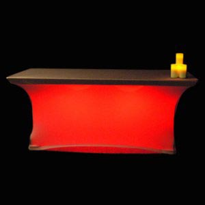 lit spandex contour table cover premier table linens blog. Black Bedroom Furniture Sets. Home Design Ideas