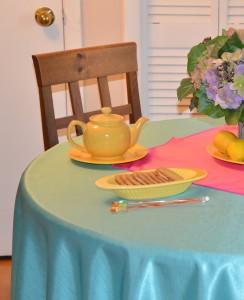 Majestic satin side tablecloth fabric