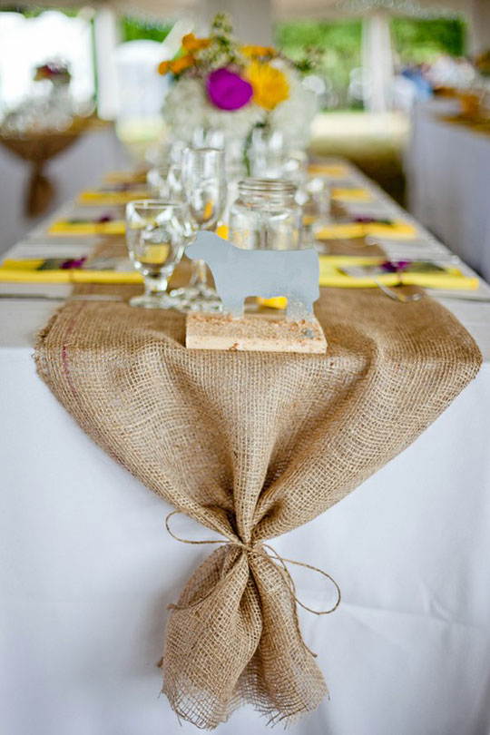 Table Table  Burlap  long runner Premier Table tables dressing for Blog table and ideas  Runners Linens