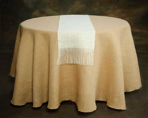 white_burlap_tABLE_RUNNER_WITH_FRINGE