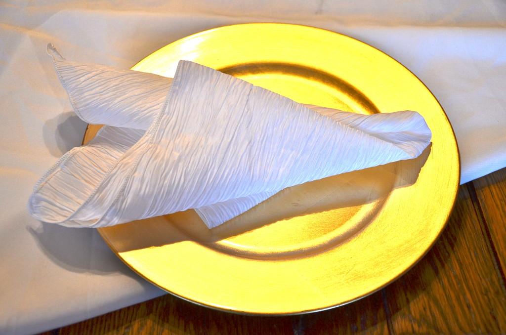 crinkle taffeta napkins