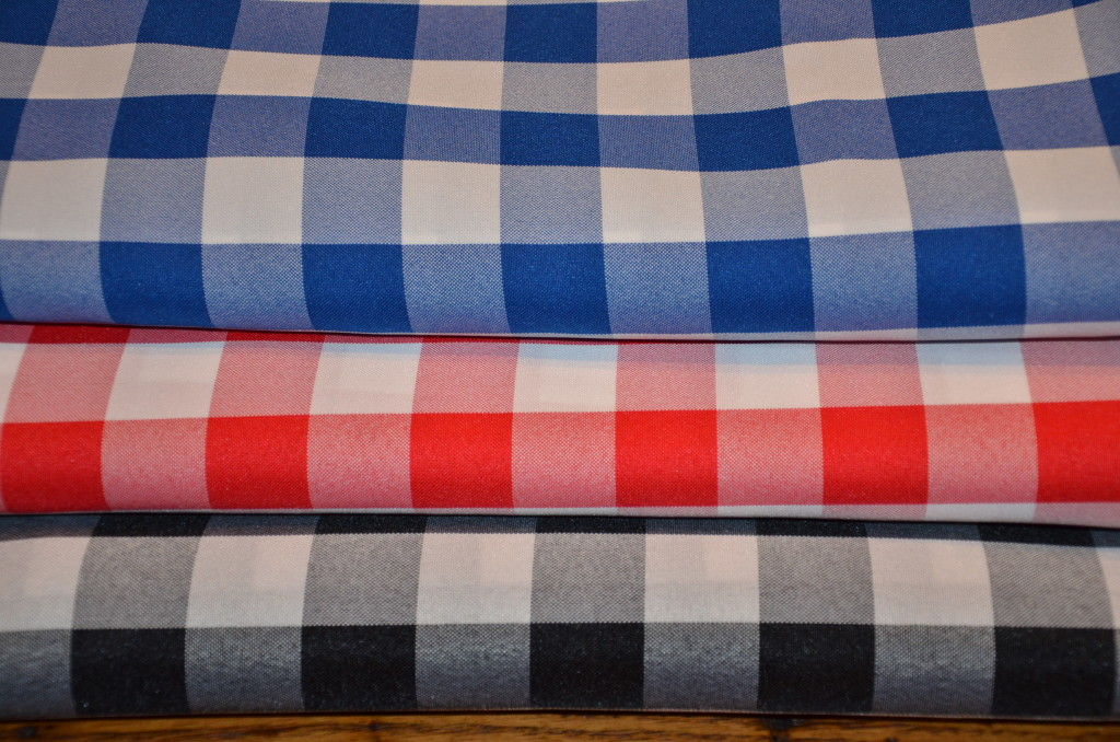Poly Check Tablecloths from Premier Table Linens