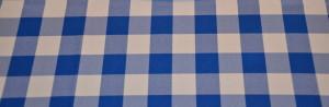Close up royal checkered tablecloth