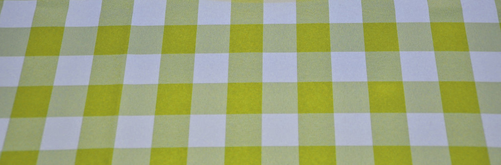 Yellow Poly Check Tablecloth from Premier Table Linens