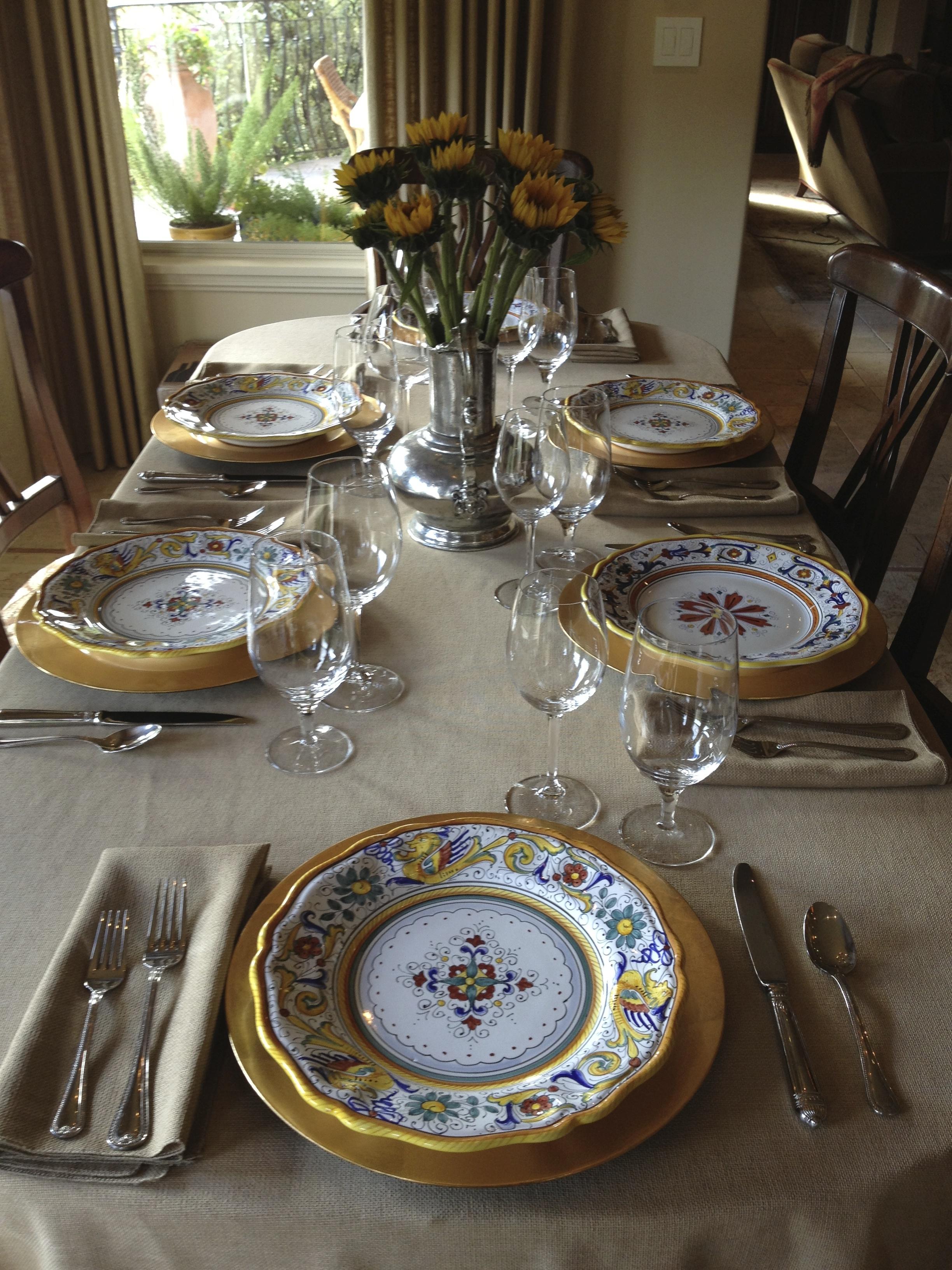 IMG_0985 & Holiday Entertaining with Saxony Damask \u0026 Burlap Table Linens ...