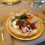 Saxony Damask and Burlap Table Settings