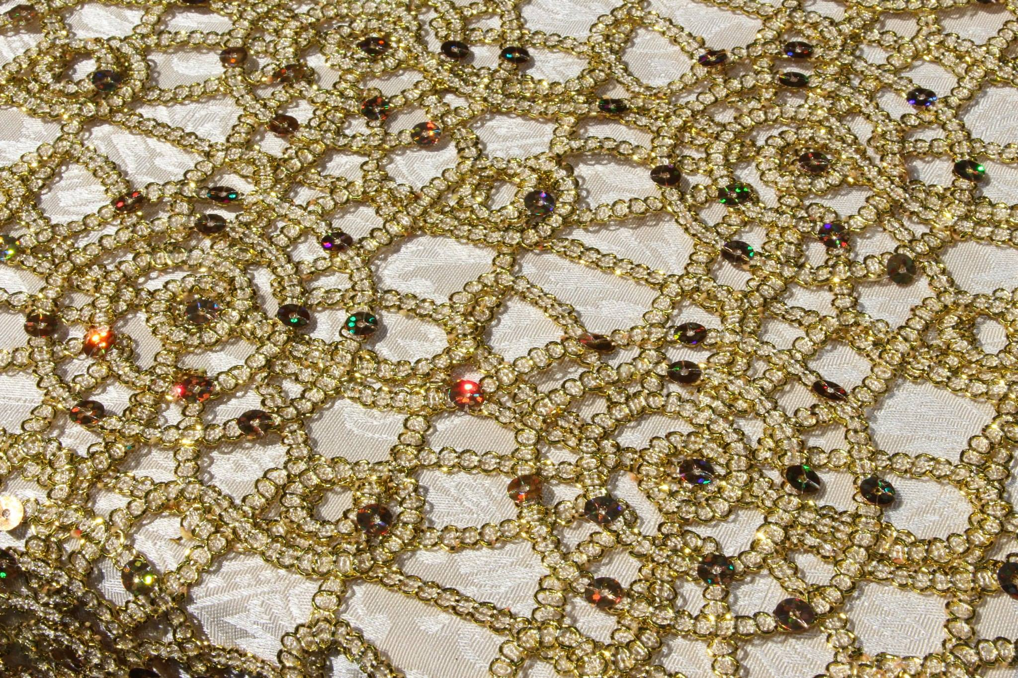 Premier Sequins Gold Table Overlay