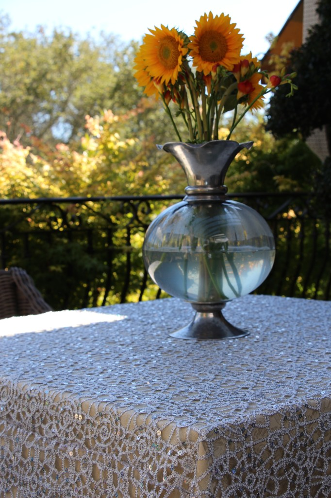 Premier Silver Sequins Table Overlay
