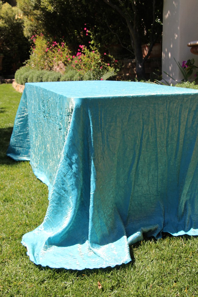 Turquoise Gold Dazzle Table Linen