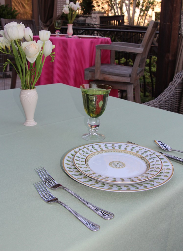 Spun Poly and Poly Stripe Table Linens