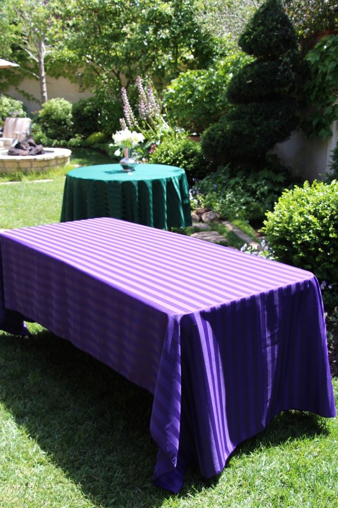 Poly Stripe Table Linen Rentals
