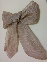 Burlap Bow decoration