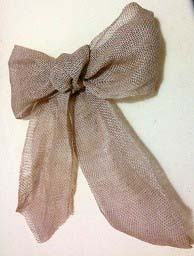 burlap bow for Easter wreath
