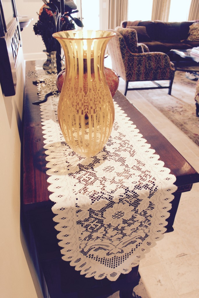Premier Table Linens Lace Table Runner