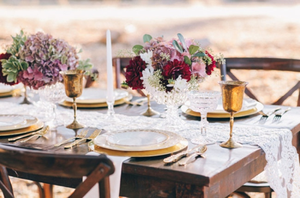Inspiration Photo for lace table runners