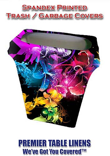 Stretch Spandex Printed Trash Can Cover