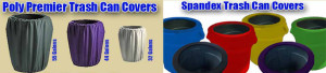 stretch spandex trash garbage can covers