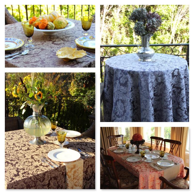Miranda Damask Table Linens