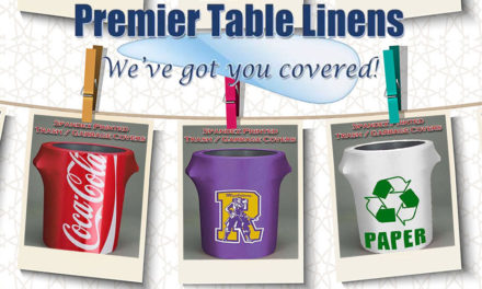 Polyester & Stretch Spandex Trash Can Covers