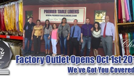 Tablecloth Factory Outlet Opening October 1st 2016