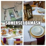 Somerset Damask Table Linens, Fit For a Queen