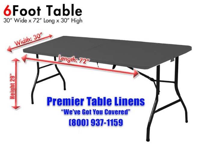 Size Promotional Table Cover, What Size Tablecloth Do I Need For A 30 X 72 Table